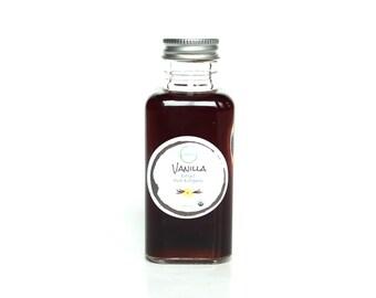 ORGANIC vanilla extract | 3.4 oz 100 ml | pure vanilla extract | USDA organic certified source | Madagascar vanilla extract | glass bottle