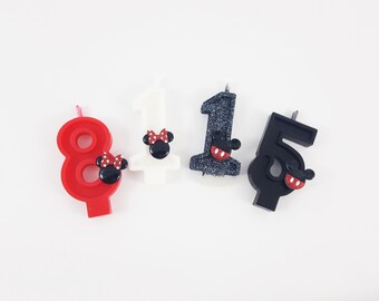 Mickey and Minnie Number Candles