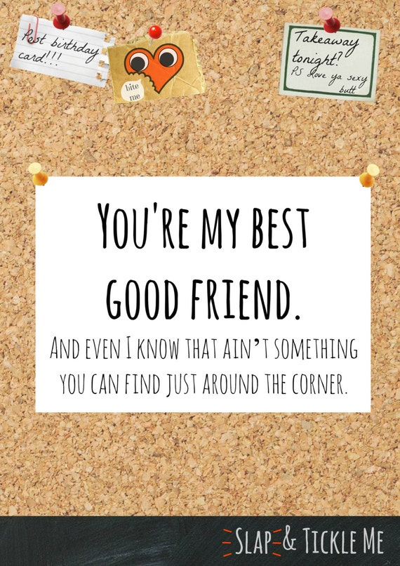 Items similar to You're My Best Good Friend Card. (Instant Download