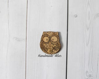 Owl Pin Cut Out Unfinished Wood Shape Craft Supply Shapes Wood Embellishment Craft Decoration Gift Decoupage