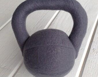 Stuffed Kettlebell Rattle, Grey