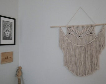 Large Macrame Wall Hanging - Boho Chic Home Decor - Handcrafted