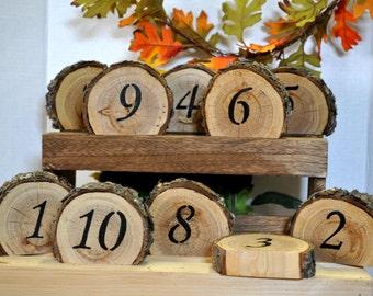 Numbers, rustic wedding table numbers wedding table number rustic wedding log wood table number country wedding sign barn wedding rustic