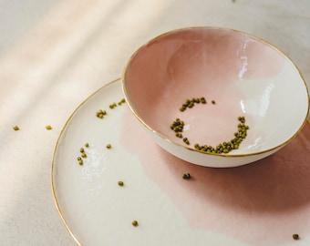 Ceramic Dinnerware,Pink Dish,Pink Ceramic Plate,Pink Ceramic Bowl,Modern Dinnerware,Dish Set Pottery,Dinner Plate,Dinner Set,Wedding Gift