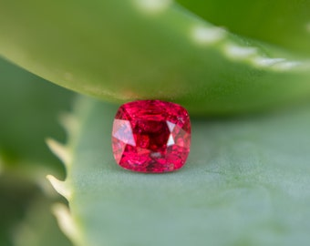 Burmese 1.16ct Vivid Red Spinel With Lotus Certificate