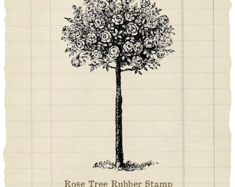 Rose Tree unmounted rubber stamp