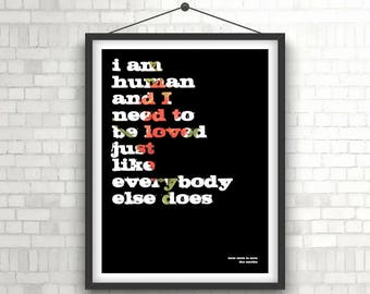 THE SMITHS - How Soon Is Now Lyrics Poster Print
