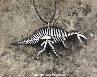 Spinosaurus Skeleton Necklace