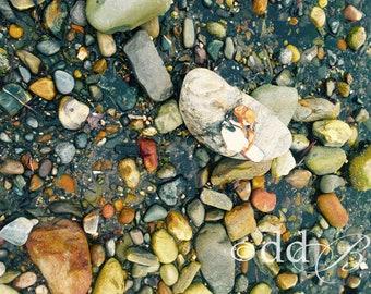 La Mer #2 (the Sea) Sea Rocks Stones Geology Shells Beach Sand Photograph