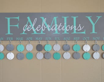 Customized Family Celebration Boards - Artisan hand crafted - Grey Boards