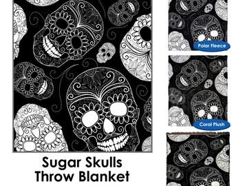 Sugar Skulls Throw Blanket / Tapestry Wall Hanging