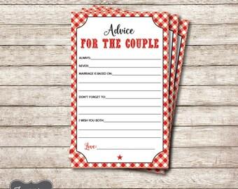 I do BBQ Advice for the Couple Cards, I do BBQ Advice for the Bride and Groom, I do Bbq Couples Shower Game, Printable PDF File