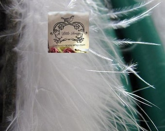Marabou Boa Feathers White