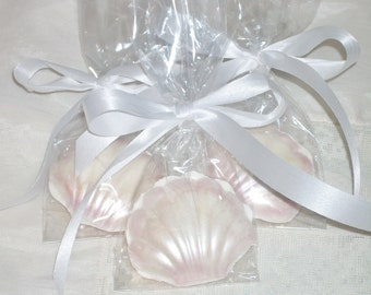 Chocolate  Shell Favors beach inspired favors, weddings, beach party