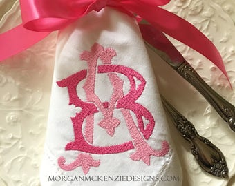 Two-Letter  Monogram SET OF 4