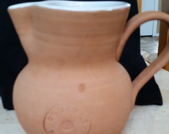 Tan Pottery Pitcher