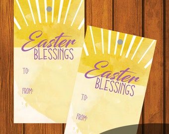 Easter Labels / Easter Gift Tag / Happy Easter / Easter Gift Tags / Instant download / Easter Bunny / Happy Easter /Easter Blessings