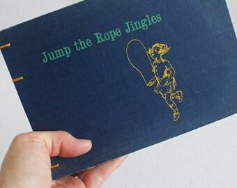 Old Book Journal / Recycled Vintage Book / Jump Rope Jingles Rebound Journal Blank Book by PrairiePeasant