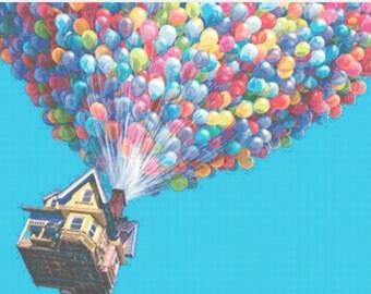 Disney cross stitch up house chart pattern
