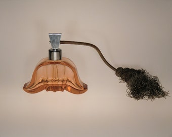 Bohemian Czech Art Deco Glass Perfume Bottle