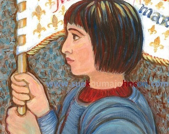 St. Joan of Arc - Patron Saint of France - Catholic Art Print - Confirmation Gift
