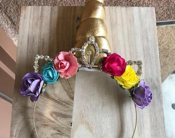Tiara Unicorn headband, unicorn headband