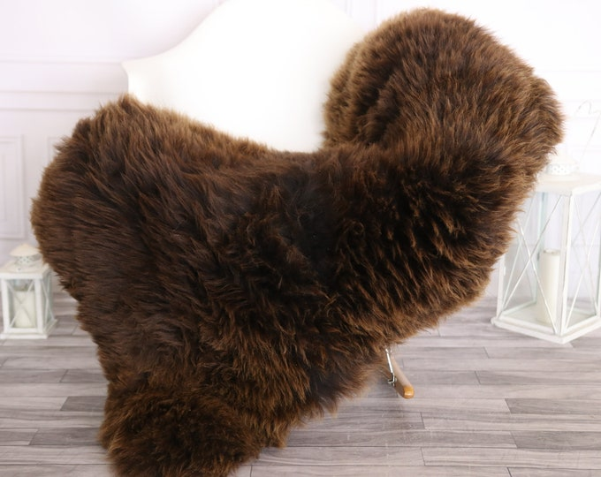 Sheepskin Rug   Real Sheepskin Rug   Shaggy Rug   Scandinavian Rug     SCANDINAVIAN DECOR   Brown Sheepskin #OLHER5