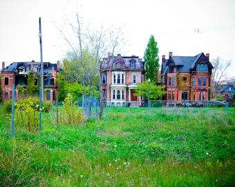 Detroit Woodward Mansions Unframed Photo