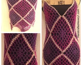 Handmade Crochet Fishnet Cover Up