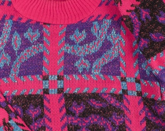 Woman Vintage Recycled 80s Sweater Ref 0018