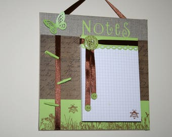 Notepad on coated canvas
