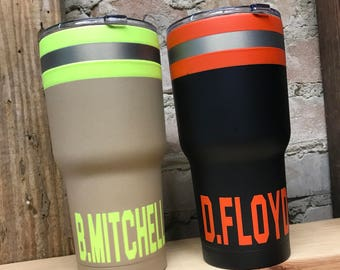 Bunker Cup Tumbler- Gear - Different Color Variations Available! - Firefighter- First Responder- Paramedic- EMT Cup Yeti