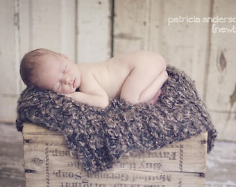 Blanket Newborn Baby Photo Prop Baby Photography Props Brown Baby Photography Prop Baby Picture Props for Baby Picture Blanket Brown