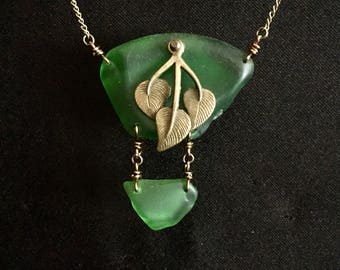 Lake Superior Beach Glass Necklace