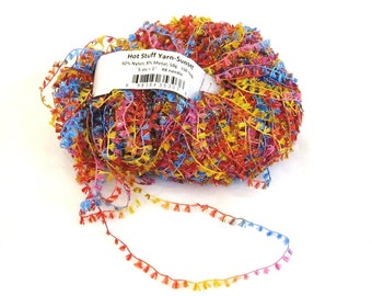 Hot Stuff 815, Ironstone yarn, bright multicolor, primary colors, flags, novelty yarn, destash