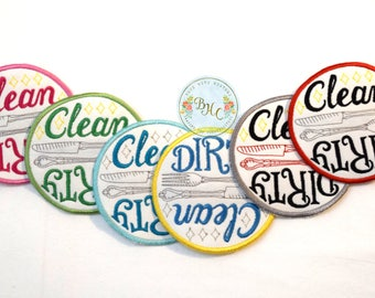 Clean dirty Dishwasher magnet, clean dirty dishwasher sign, dishwasher safe, dishwasher reminder, clean dishes, dirty dishes