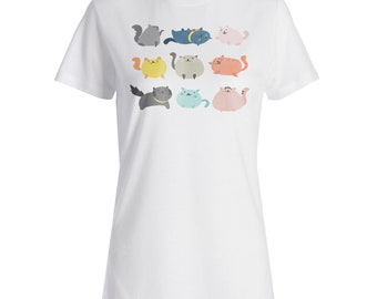 Cute Cats Cat Lovers Funny Novelty Ladies T-shirt b247f