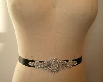 SALE - Wedding Belt, Bridal Belt, Bridesmaid Belt, Bridesmaid Belt,, Crystal Rhinestone - Style B141