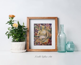Sacred Garden - Pregnancy artwork print choice of sizes up to 16x20 flat print wall art birthing center doula midwife chiropractor