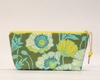Poppies Basil Zipper Pouch Gadget Case Cosmetics Bag - READY TO SHIP
