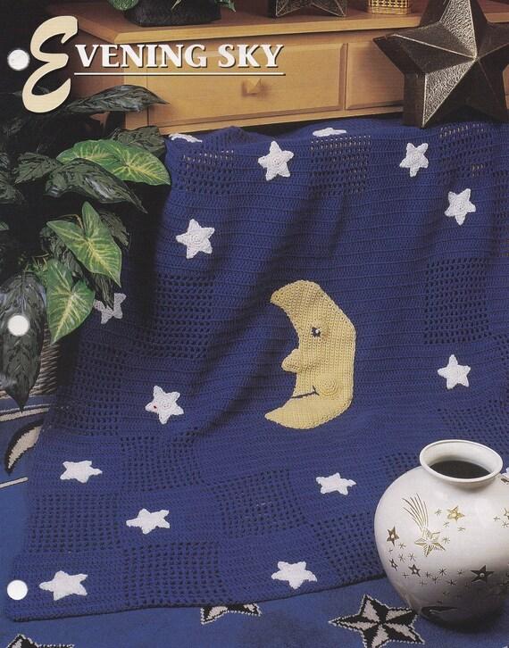 Cielo de noche de Annie Attic Crochet tejido y patrón afgano