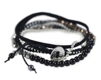 wrap bracelet 5 wrap double wrap bracelet Suede Boho Bracelet Gypsy Bracelet Boho chic wrap bracelet buttons  14
