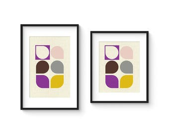 ARRAY v55 - Mid Century Style Contemporary Modern Abstract Art Print - 8x10 or 8x12 Format