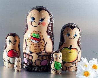 Matryoshka Doll Hedgehogs