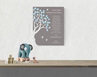 Godson Poem | Boy Baptism Gift | Christening Gift For Boys | Godchild Keepsake | Personalized | Baptism Dedication - 44877