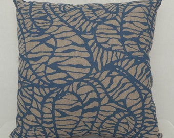 Cushion - Shoal in Indie Blue