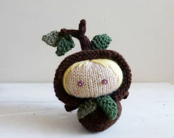Tree Baby Apple, Baby Doll, Knit Tree