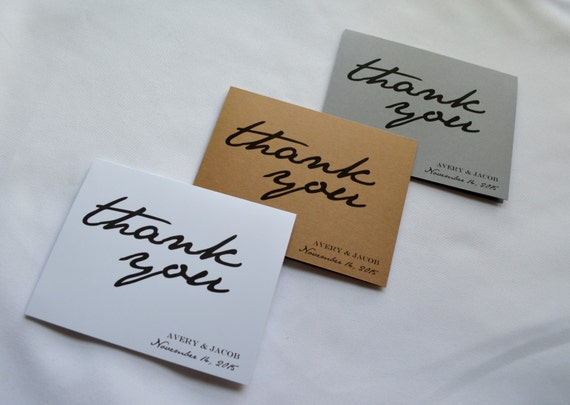 CUSTOM THANK YOU cards customize name and date thank you