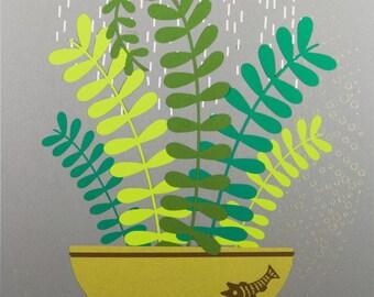 Rain Cloud over a Plant (2018-18)