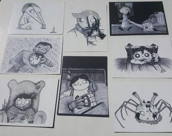All 8 Horror Mini Prints